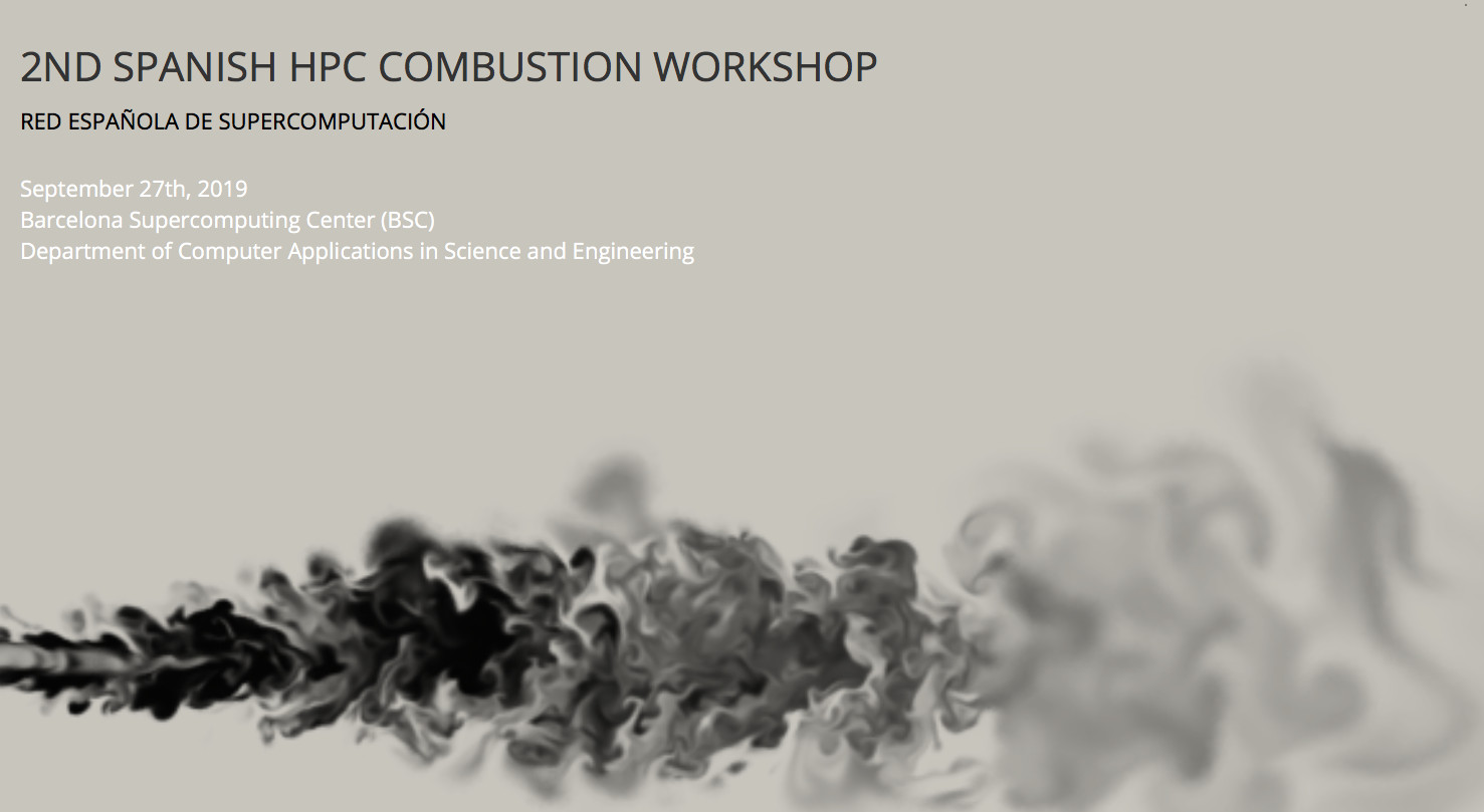 2nd Spanish HPC Combustion Workshop